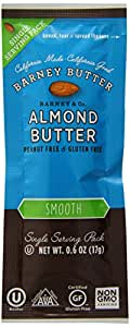 Barney Butter Almond Butter 90 Calorie Snack Packs, 0.6-Ounce (Pack of 24)