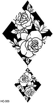 Yangll Populaire Ballet Noir Blanc Fleurs Tatouages
