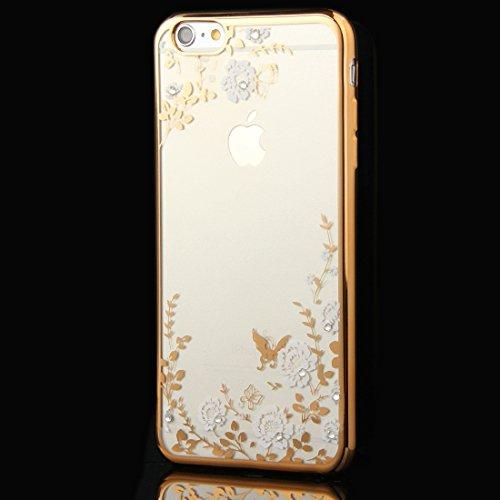 Phone Taschen & Schalen Für iPhone 6 Plus & 6s Plus Blumen Muster Galvanisieren Soft TPU Schutzhülle Fall ( SKU : IP6P0010C )