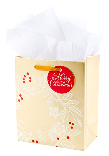 - Hallmark Small Christmas Gift Bag with Tissue Paper (Wreath)