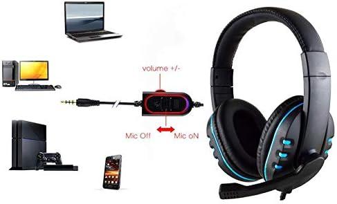 para PS4 // Xbox One X // PC // Laptop // Tablet Auriculares Gaming con Microfono Maxesla Cascos Gaming con Sonido Envolvente Reducci/ón de Ruido y Ajustable Luz LED y Control Volumen