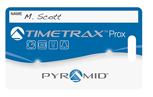 Pyramid TimeTrax 42454 Proximity Badges for PPDLAUBKN &TTPROXEK Time Clock Systems, 15/Pk by Pyramid (Image #1)