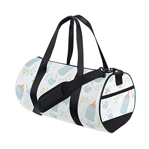 (Tote Bags Durable Kawaii Baby Water Milk Bottle Clean Day Duffel Functional Duffle Bag Luggage For Women Mens Garment Bag Fitness Training College Dufflebag)