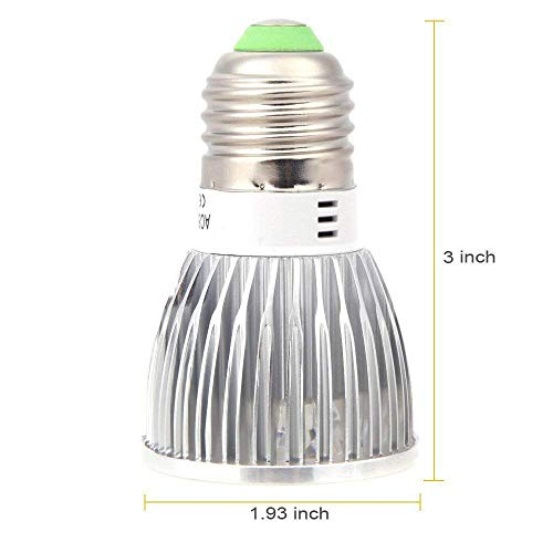 Superdream 10W Full Spectrum Led Grow Light for Flower Plant Hydroponics System and Garden Greenhouse (E27 10W)