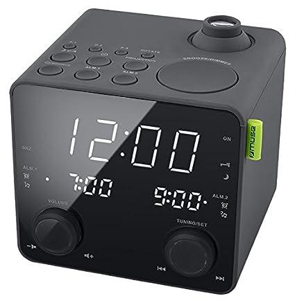 Muse M-189 P - Reloj Digital (Pantalla LED, frecuencia de 50/