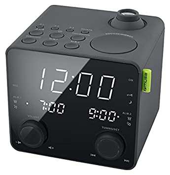 Muse M-189 P - Reloj Digital (Pantalla LED, frecuencia de 50/60 Hz, Entrada AC de 100-240 V) Color Negro: Amazon.es: Electrónica