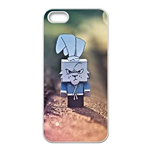 iPhone 4 4s Cell Phone Case White Cute Grumpy Cardboard Rabbit BNY_6854316