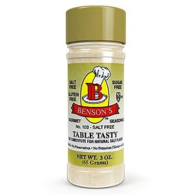 Salt Substitute -  No Potassium Chloride Substitute Salt - 16 oz size from Benson's Gourmet Seasonings