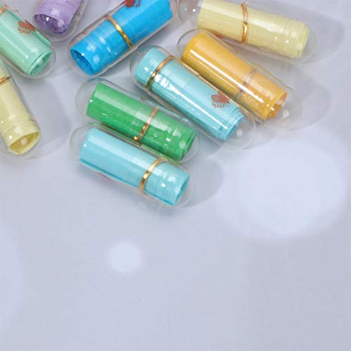 STOBOK Mensaje en Una Botella Mini Cápsula en Forma de Píldora ...