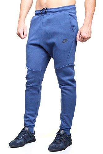 Nike Men's Men's Sportswear Tech Fleece Jogger In Blue in Size M Blue