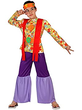 Angel Tomas S.A. - Disfraz de hippie para niño, talla 3, 7-9 años ...