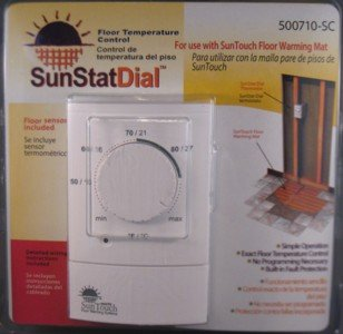 SunTouch Dial Non Programmable Floor Heat Thermostat 120/240 Dual Voltage GFCI by SunTouch