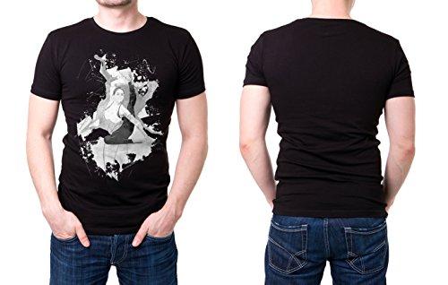 Yoga_III schwarzes modernes Herren T-Shirt mit stylischen Aufdruck