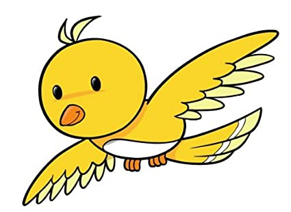 amazon com children s wall decals cartoon yellow flying bird 12 rh amazon com flying bird cartoon png flying bird cartoon images
