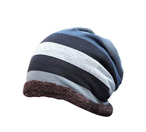 Plus Grueso Hombres de Temptation Sombrero Invierno Punto 1 de Punto Multicolor37 de Terciopelo Sombrero Sombrero Black para Moda ngfCCq4x