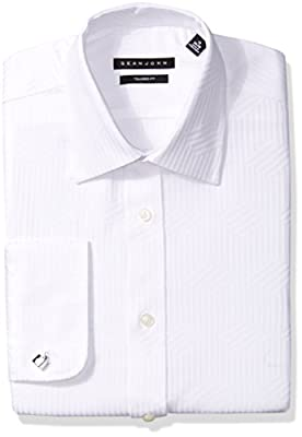 Sean John Men's Dress Shirt Regular Fit Solid Spread Collar
