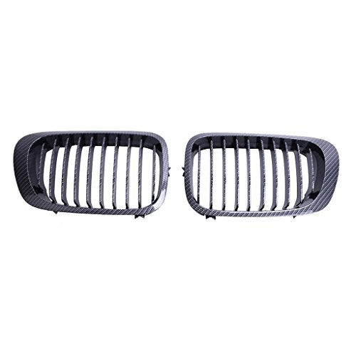(E46 Grill Carbon Fiber Black Front Kidney ABS Plastic Grill Grille For BMW 3 Sries BMW E46 2 doors 1998-2001)