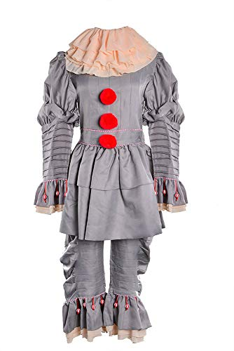 TOKYO-T It Costume Pennywise Mens Halloween Cosplay (Mens M, tag XL) -