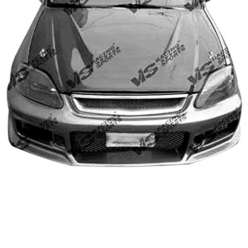 VIS Racing (VIS-JGW-533) Invader Style Hood Carbon Fiber - Compatible for Honda Civic 1999-2000 (1999 2000 | 99 00)