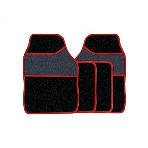 Streetwize Mat Set - Red Edging