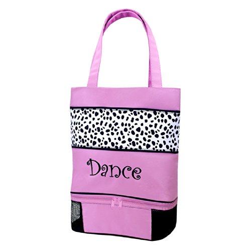 Sassi Designs Dalmatian Dance Small Tote Size: Small 12