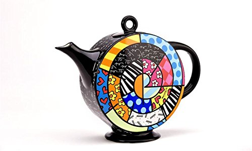 Romero Britto Spiral Design Teapot