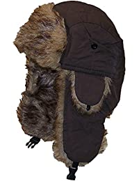 Solid Color Nylon Russian/Trapper W/Soft Faux Fur Hat(One Size)