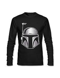 Men Star Wars Boba Fett Platinum Style T-shirts Black