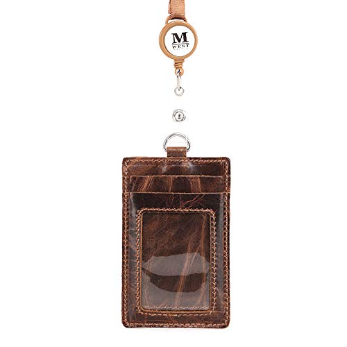 Montana West Genuine Leather ID Badge Holder Neck Lanyard Office ITD-001BR