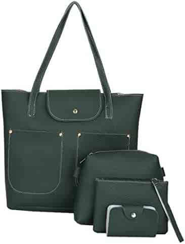 adff84d001 Clearance Sale! 4Pcs Women Pattern Leather Handbag+Crossbody Bag+Messenger+Card  ❤