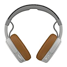 Skullcandy Crusher Bluetooth Wireless Over-Ear Headphone with Mic, Gray/Tan