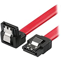 Rosewill 18 Inches 90 Degree Right Angle 6.0 Gbps SATA 3 Cable (Red)