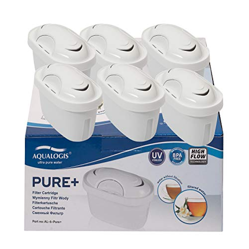 Aqualogis Pure cartuchos de Filtro de Agua Compatibles con Brita Maxtra Plus y XL Jugs con Style, Mavea, Elemaris, Marella, Tassimo