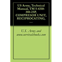 US Army, Technical Manual, TM 5-4310-380-23P, COMPRESOR UNIT, RECIPROCATING, 25 CFM, 175 PSI, ELECTRIC MOTOR DRIVEN MODEL 10HT8G, NSN: 4310-01-198-9365, military manauals, special forces