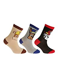 Paw Patrol Childrens/Kids Official Cotton Rich Socks (Pack Of 3)