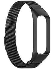 Roestvrijstalen Vervanging Horlogebandriem Voor -samsung -galaxy Fit2 SM-R220 Armband (Color : BK)
