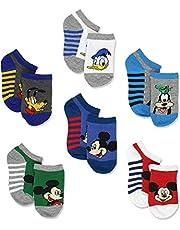 Mickey Mouse Little Boys 6 pack Socks (Toddler)