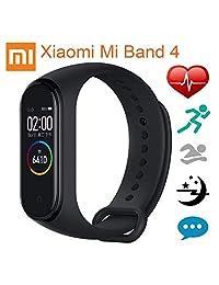 Xiaomi Mi Band 4 Fitness Tracker Pantalla AMOLED Resistente al Agua Podómetro Medidor Frecuencia Cardíaca para iPhone y Android