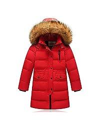 LJYH Big Children Winter Warm Down Parka Thick Hooded Detachable Outwear Coat