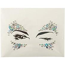 Temporary Eyes Tattoo, Hometom Crystal Temporary Eyes Tattoo Transfer Eyeshadow Eyeliner Face Stickers (D)