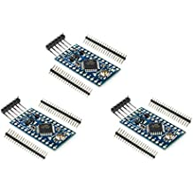 HiLetgo 3pcs PRO Mini Atmega328P-AU 5V/16MHz Development Board Microcontroller Bootloadered Pinout is identical to Arduino Pro Mini Compatible to Arduino IDE with Pin Headers
