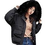 Wokasun.JJ Women Winter Coat Down Jacket Ladies Fur Hooded Jackets Long Puffer Parka