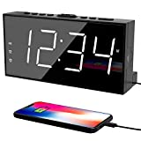 Alarm Clock for Bedroom, 2 Alarms Loud LED Big