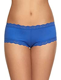 Organic Cotton Boyshort with Lace
