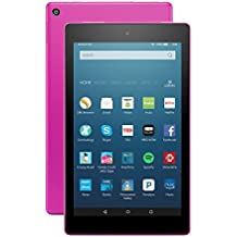 "Fire HD 8 Tablet with Alexa, 8"" HD Display, 32 GB, Magenta - with Special Offers (Previous Generation - 6th)"