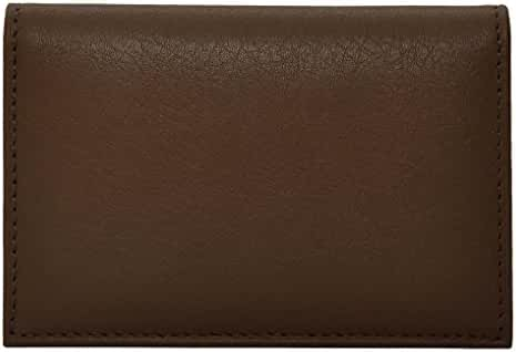 Bosca Nappa Contrast Full Gusset 2 Pocket Card Case w/ID