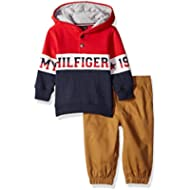 Tommy Hilfiger Baby Boys 2 Pieces Pullover Pants Set