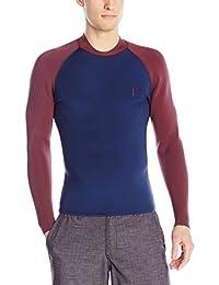 RVCA Mens Standard Long Sleeve Back Zip Wetsuit Jacket Rashguard