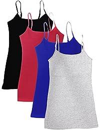 4 Pack Active Basic Women's Basic Tank Tops