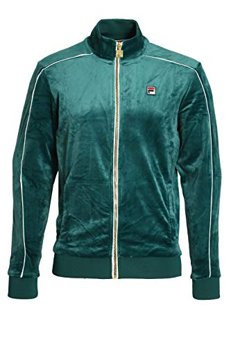 - Fila Vintage Lineker Velour Track Jacket | Green Large Green